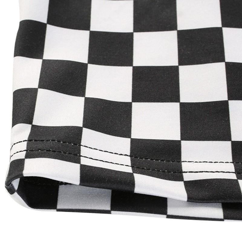Pastel gothic Egirl Checkerboard Crop Tank Top 45