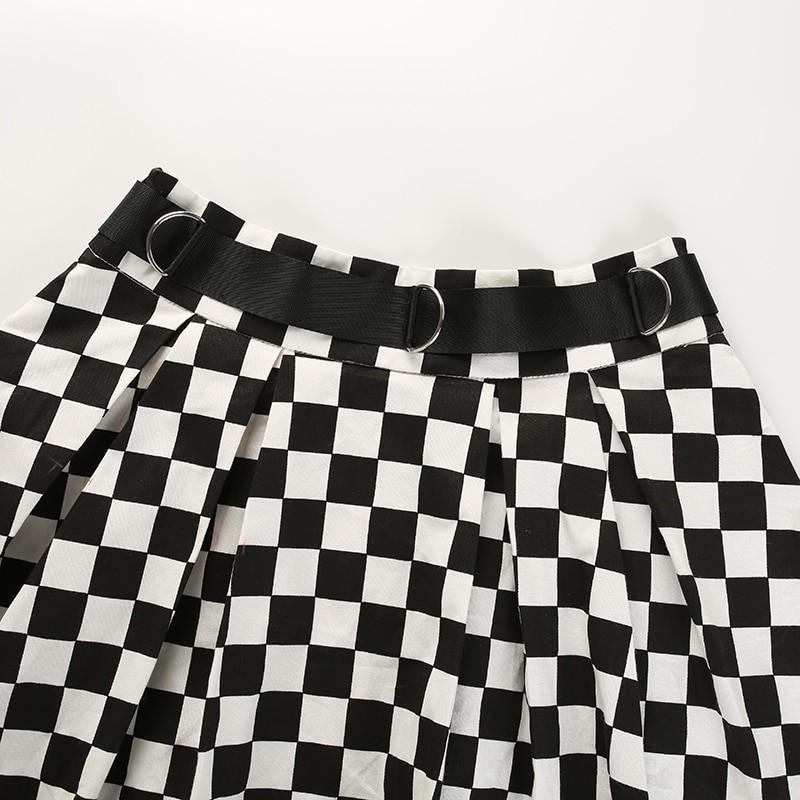 Checkered Harajuku Skirt E-girl 46