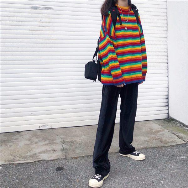 Loose Striped Sweater 10