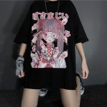 Gothic Harajuku T-shirt with anime print 10