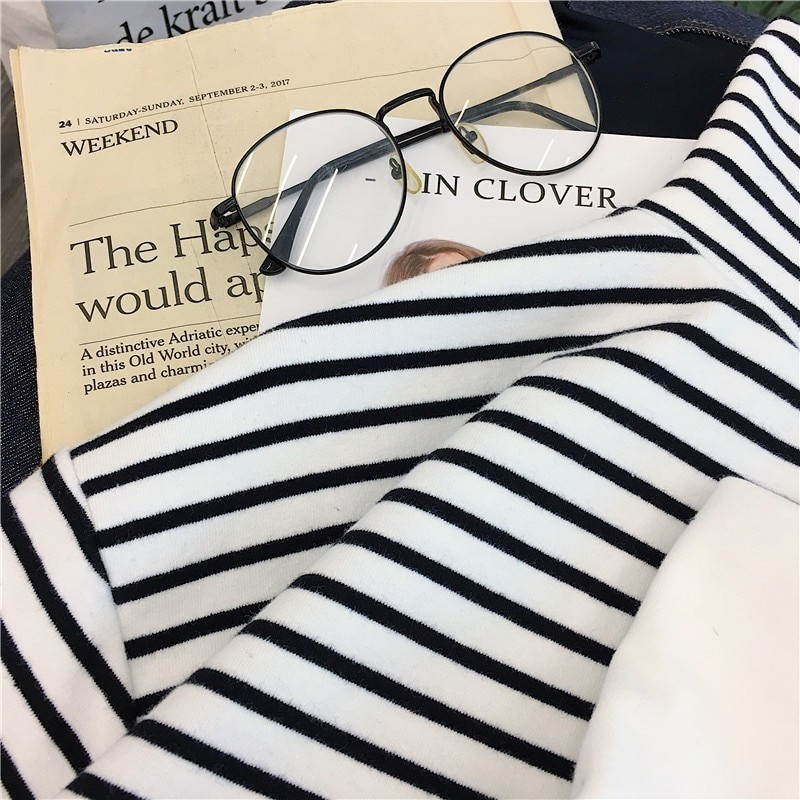 E-girl Harajuku Striped Turtleneck T-shirts 48