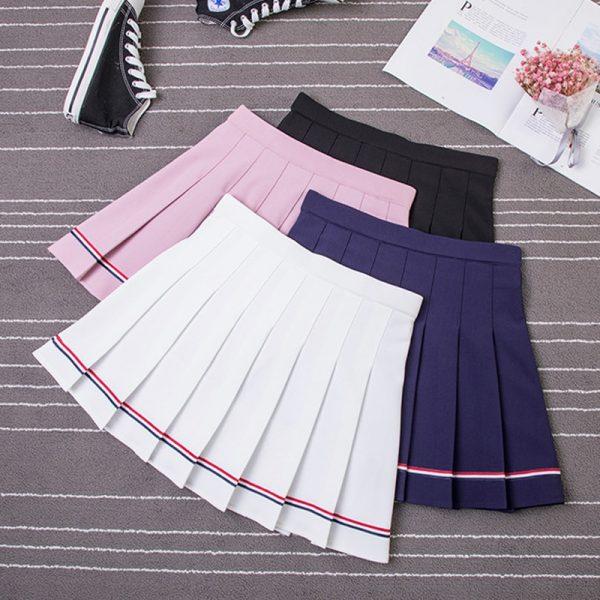 High Waist Striped Skirt  5