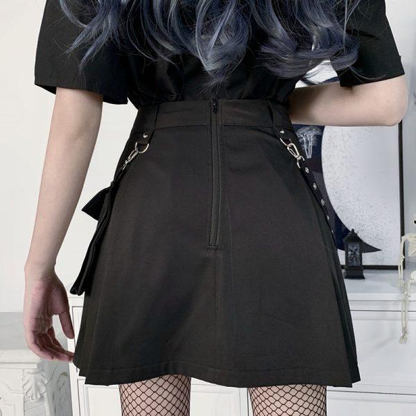 Black Skirts with Bandage  4