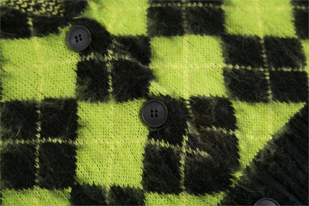 Punk Vintage knitted oversized cardigan 45