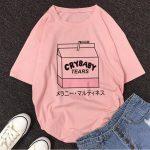 Cartoon Peach print T-shirt 2