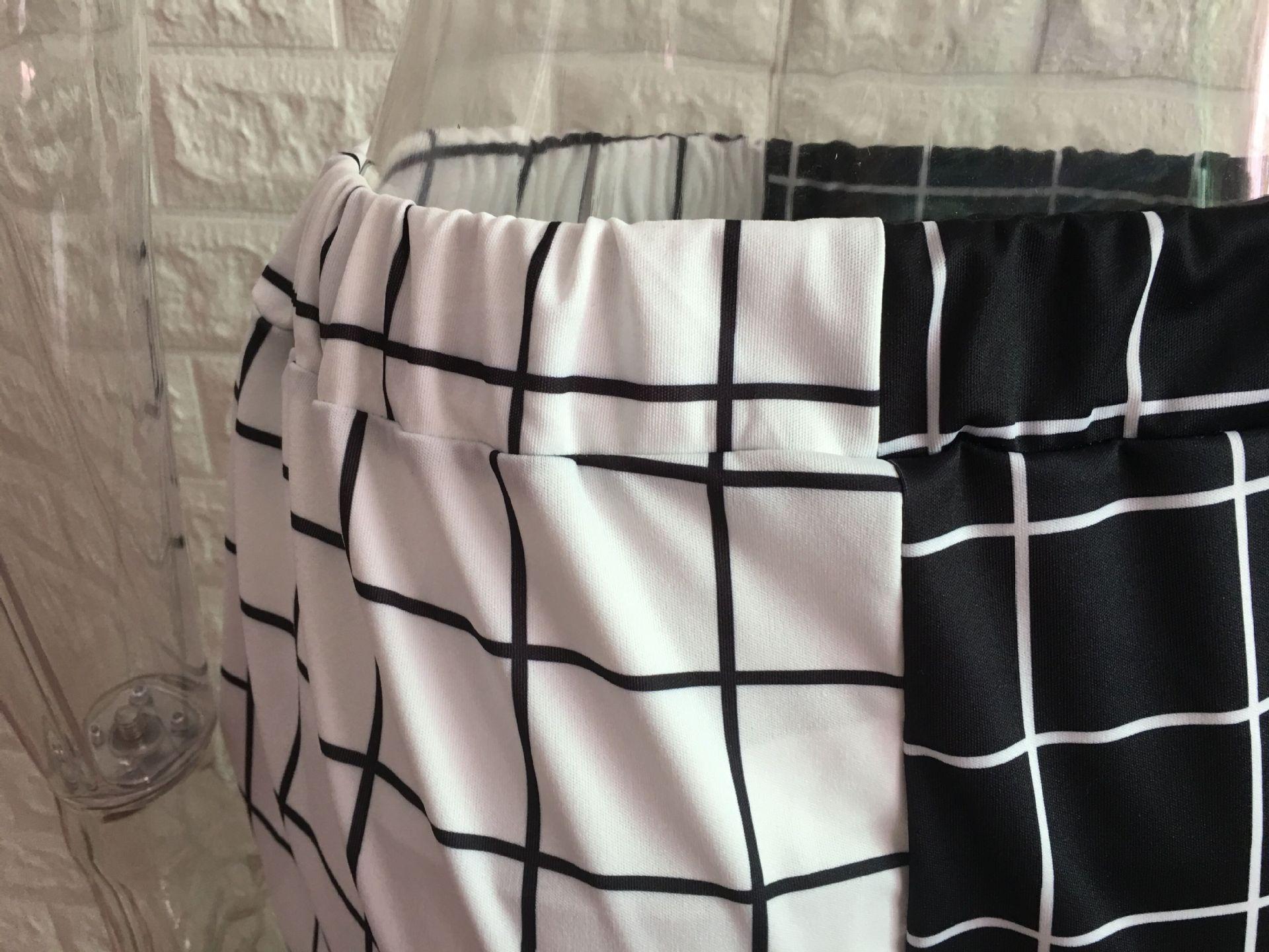 Black and White Checkerboard Trousers Punk E-girl 47