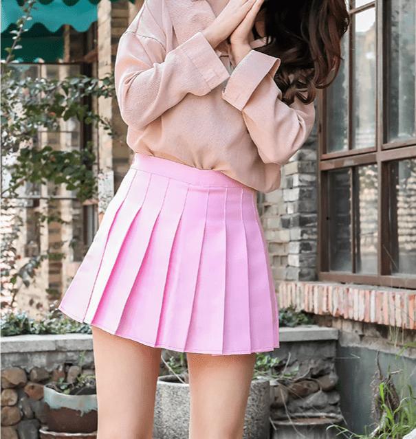 High Waist Striped Skirt E-Girl Soft girl 48