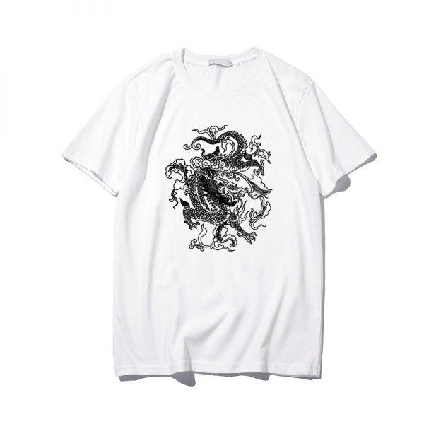 Dragon print T-shirt 4