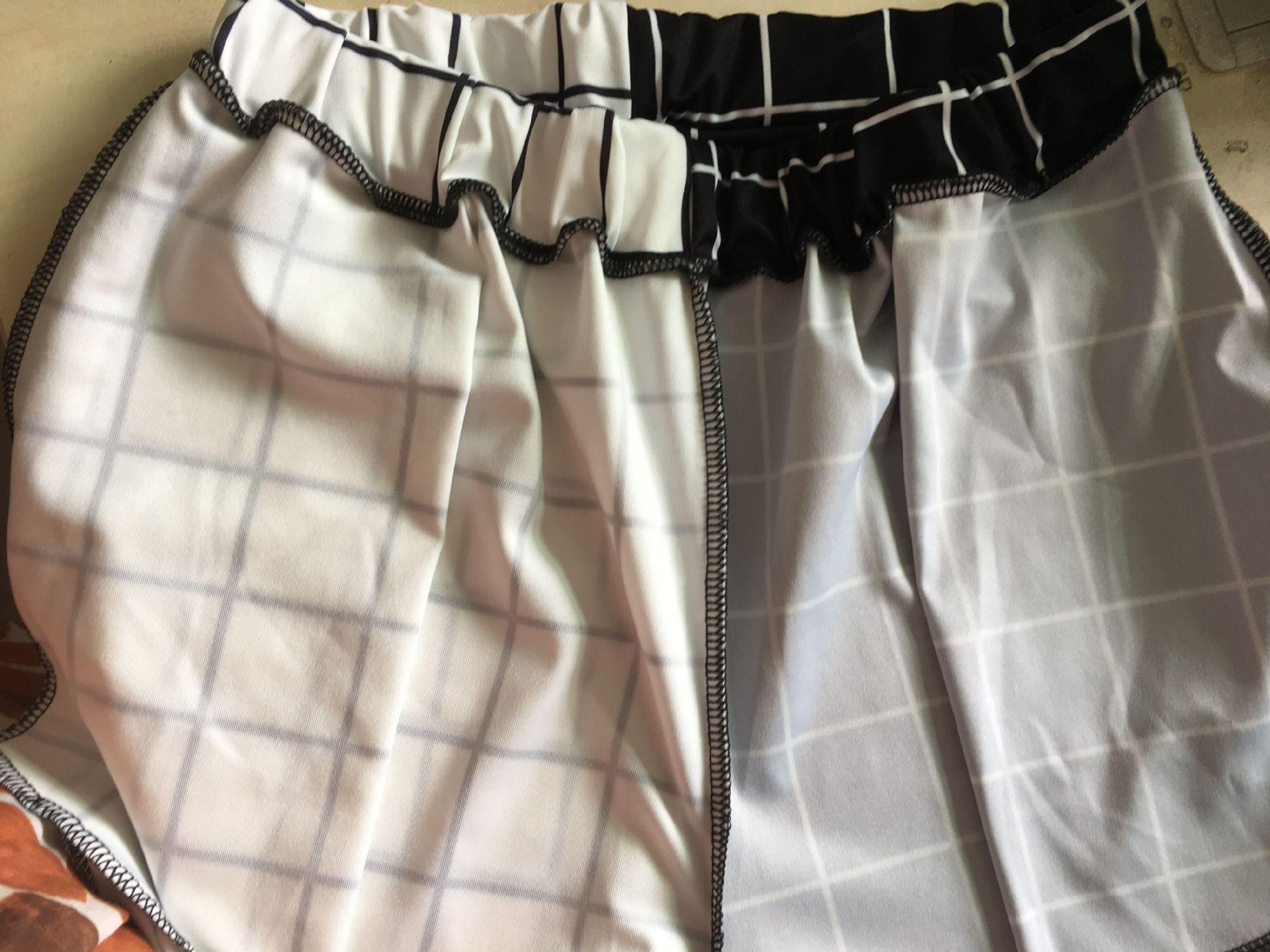 Black and White Checkerboard Trousers Punk E-girl 48