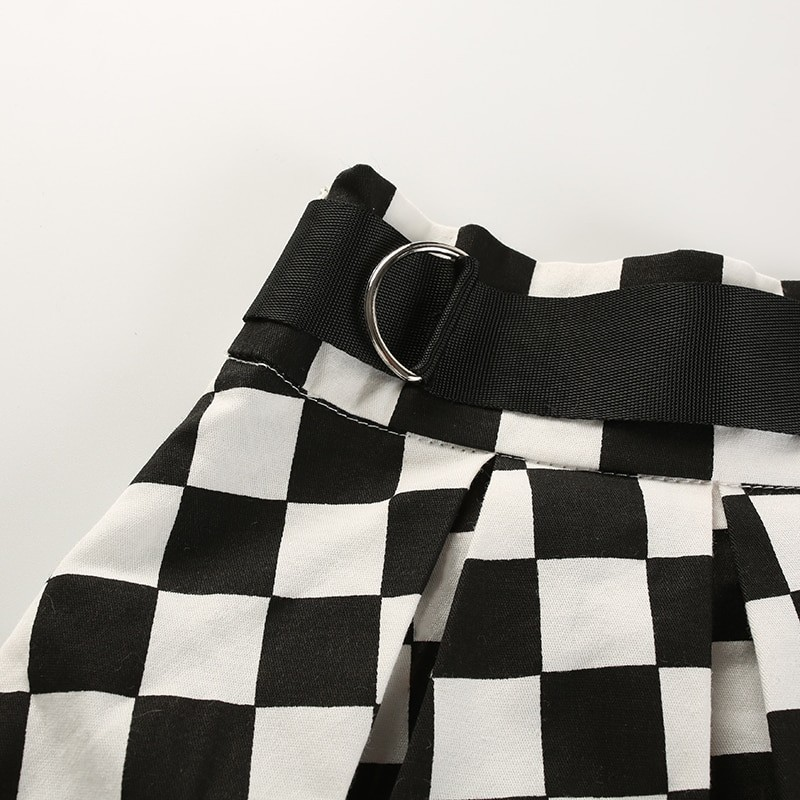Checkered Harajuku Skirt E-girl 48