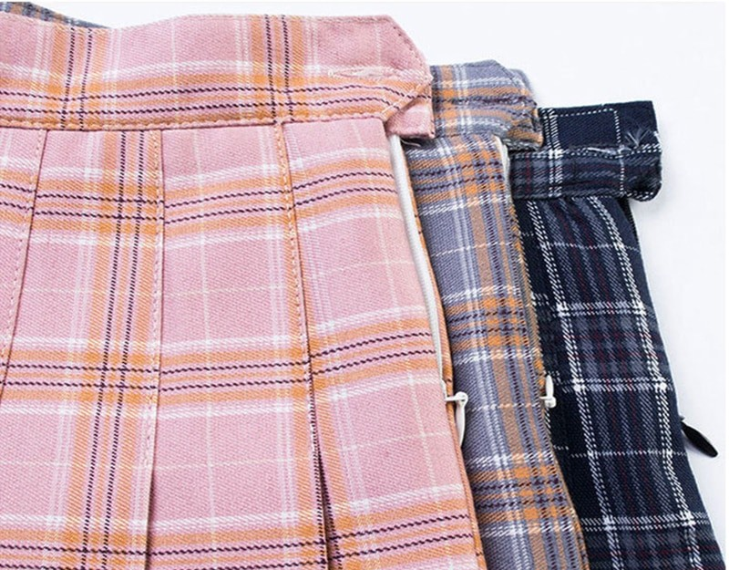 Egirl Harajuku Soft girl Plaid Pleated Mini Skirt 43