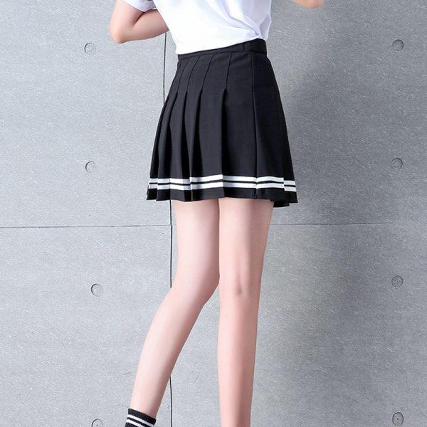 High Waist Striped Skirt  4