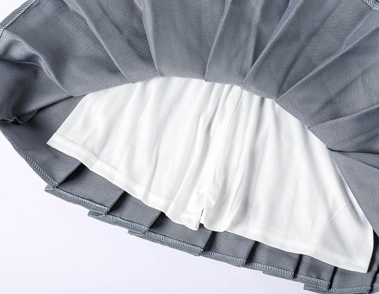 High Waist Striped Skirt E-Girl Soft girl 51