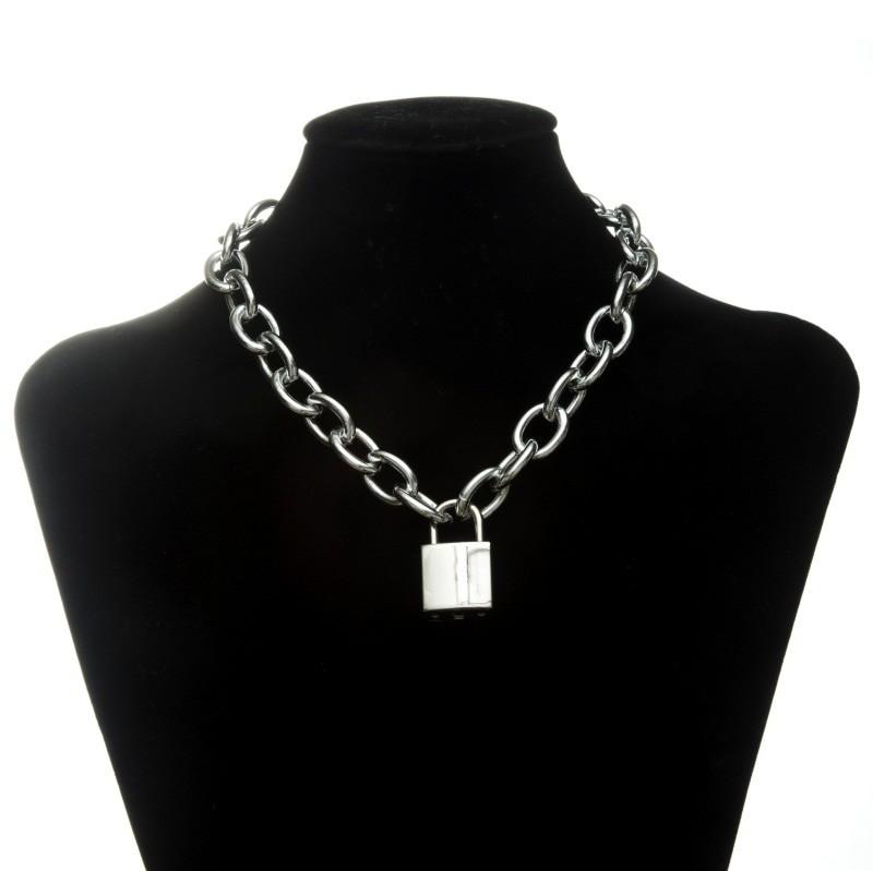 Pastel gothic E-girl Thick Massive Chain Choker 54