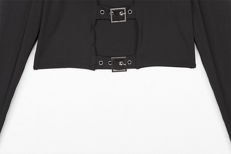 Punk Pastel gothic Crop top with buckles and long sleeve 45