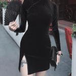 Gothic cheongsam dress 6