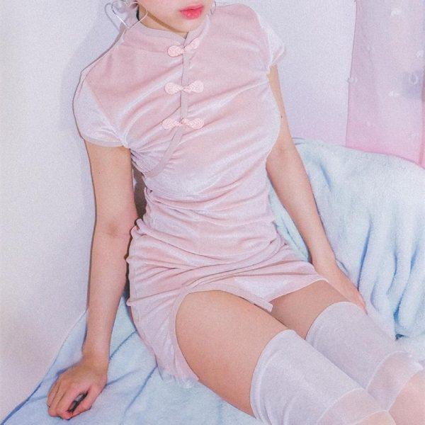 Gothic cheongsam dress 21