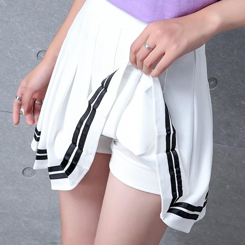 High Waist Striped Skirt E-Girl Soft girl 44