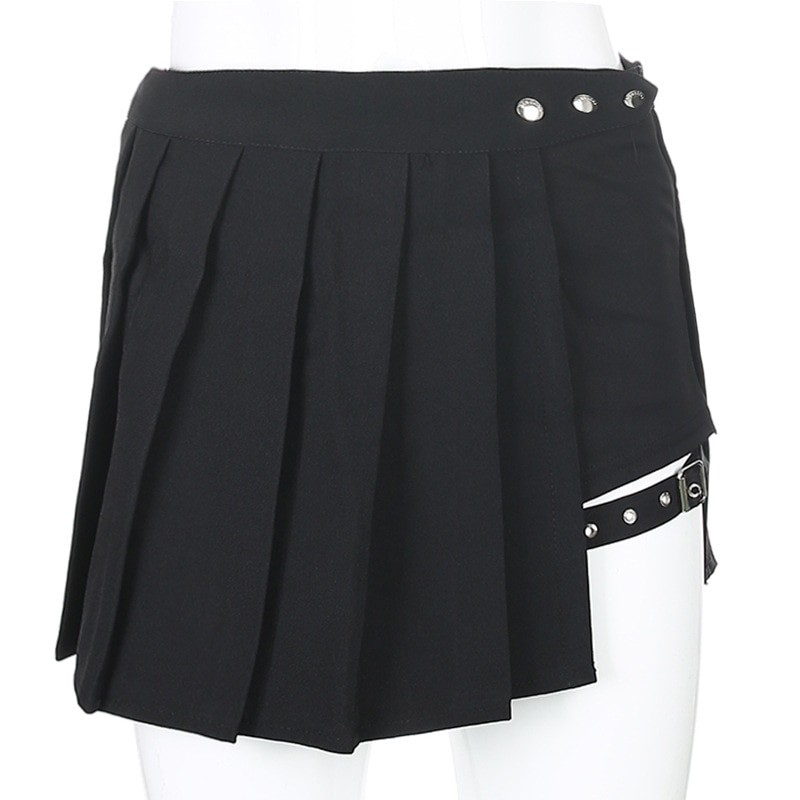 Open Mini Skirt with shorts E-girl Pastel gothic 41