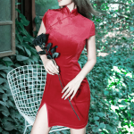 Gothic cheongsam dress 18