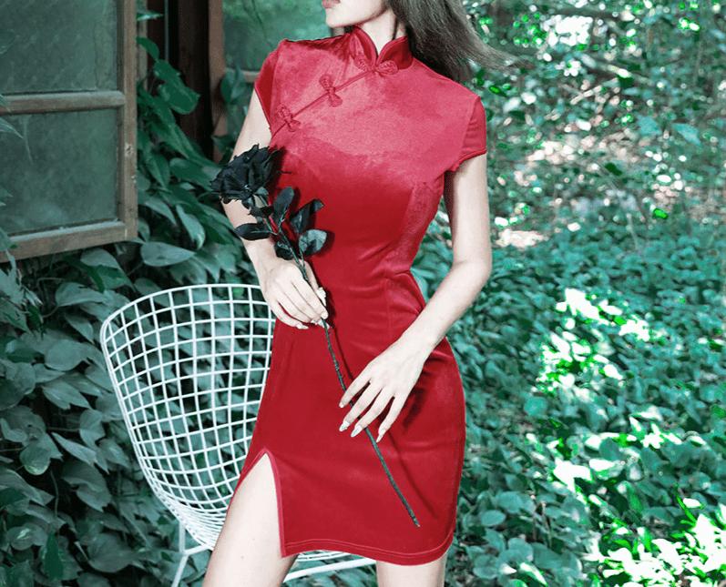 Pastel gothic E-girl cheongsam dress 46