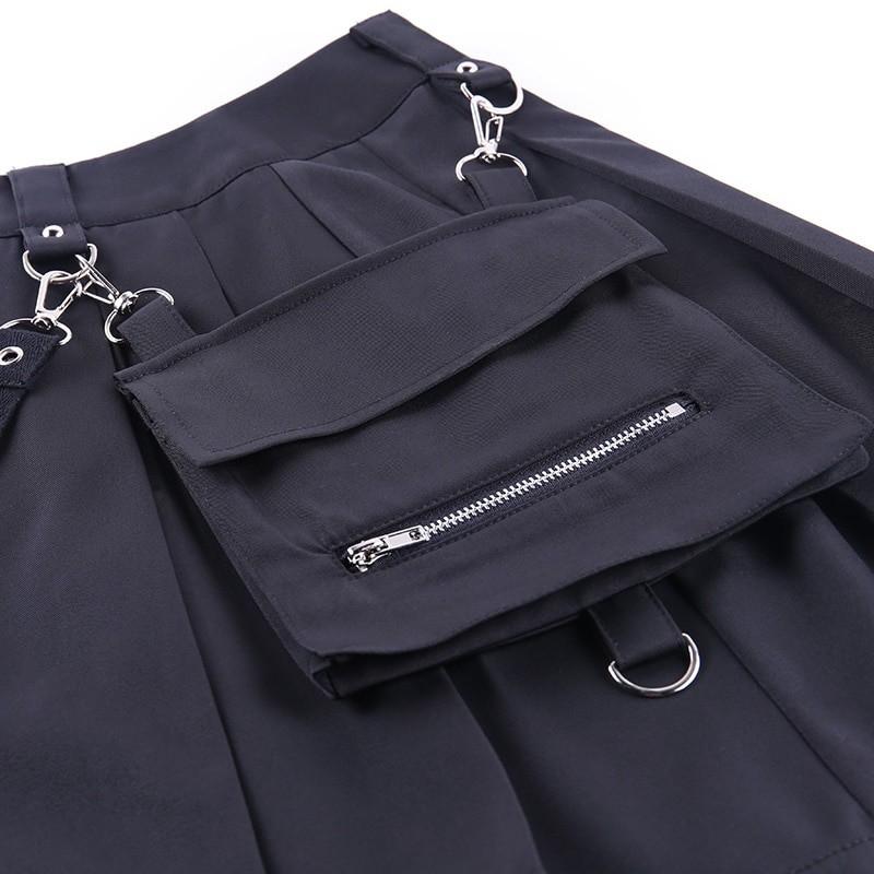Black Skirts with Bandage Pastel gothic E-girl 46