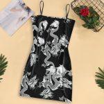 Dragon Pattern Sleeveless Dress 3