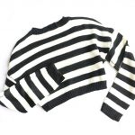 Striped oversize cropped Sweater 9