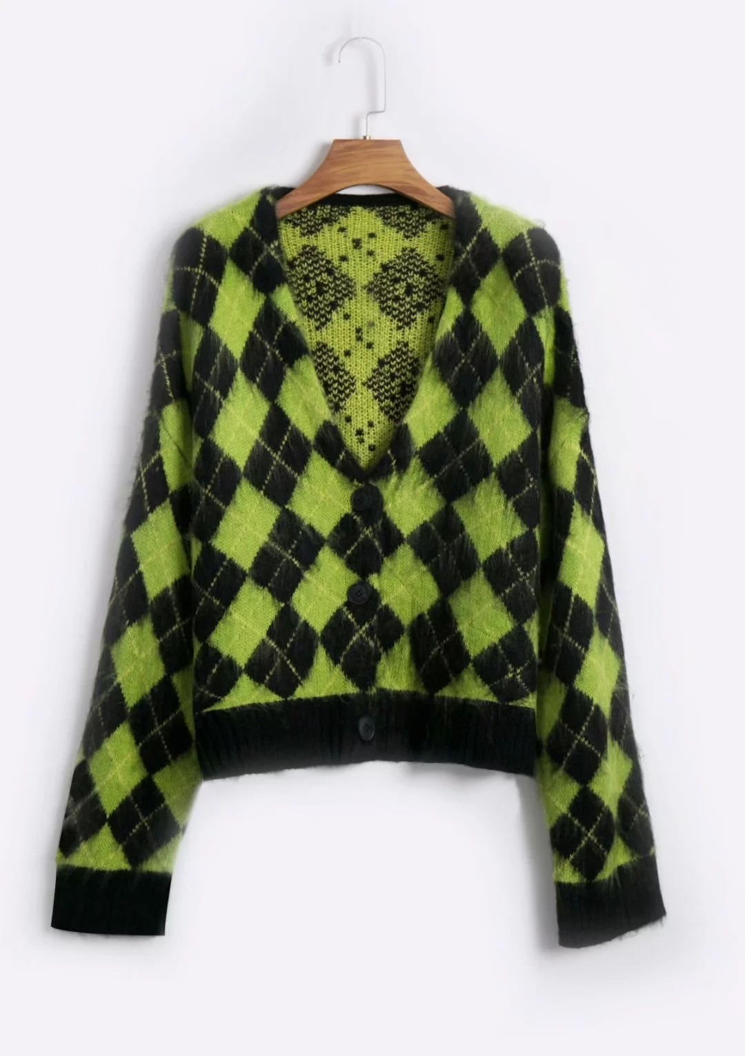 Punk Vintage knitted oversized cardigan 41