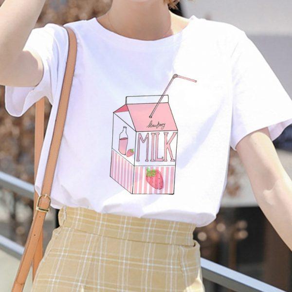 Cartoon Peach print T-shirt 29