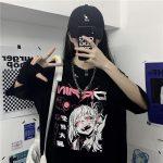 Harajuku Gothic T-shirt with anime print 5