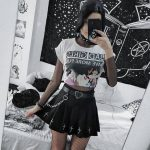 Gothic Mini Skirts with cross 12