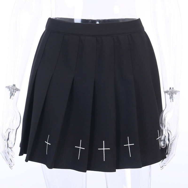 Gothic Mini Skirts with cross E-girl Pastel gothic 43
