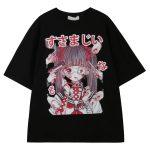 Gothic Harajuku T-shirt with anime print 6