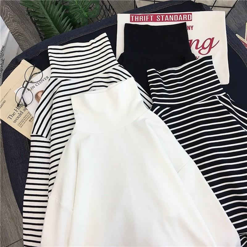 E-girl Harajuku Striped Turtleneck T-shirts 41