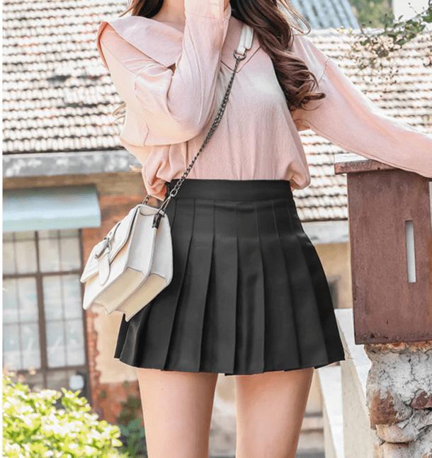 High Waist Striped Skirt E-Girl Soft girl 49