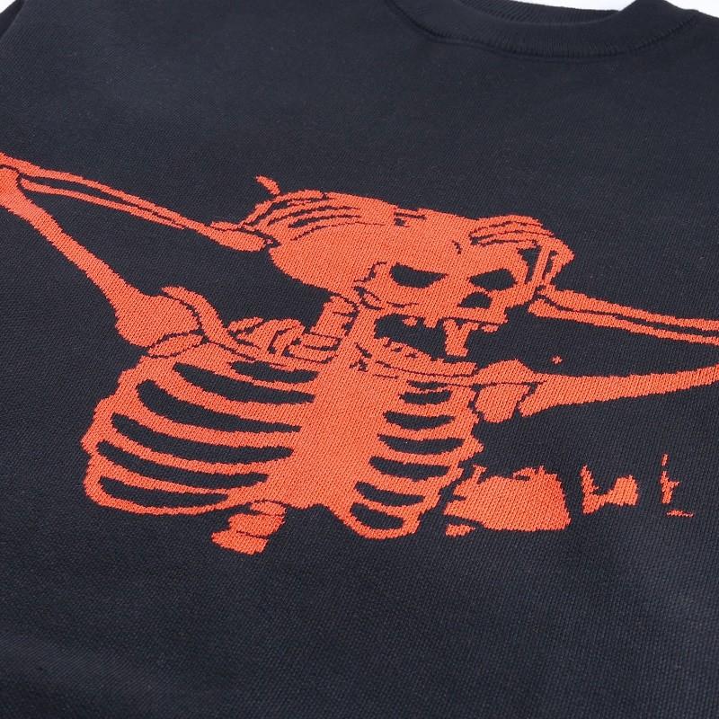 Egirl Eboy Grunge Oversized sweater with skull pattern 50