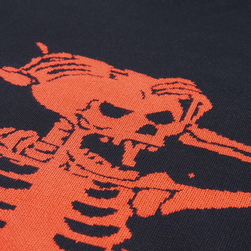 Egirl Eboy Grunge Oversized sweater with skull pattern 51