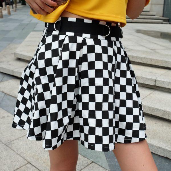 Checkered Harajuku Skirt  9