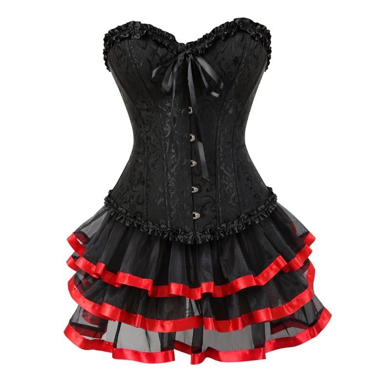 Corset and skirt set E-girl Harajuku 3