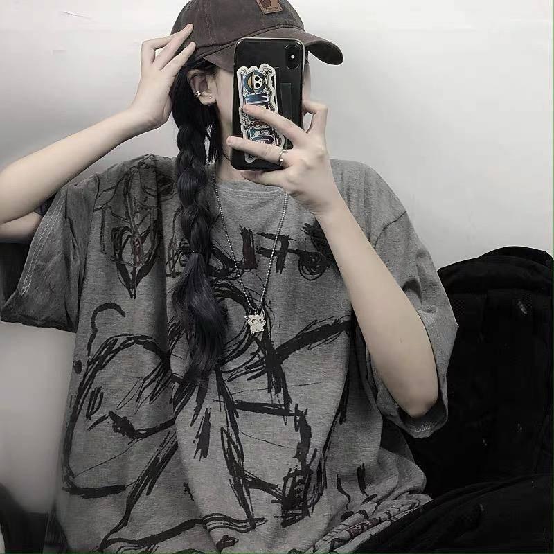 Harajuku T-Shirt with Angel print 41