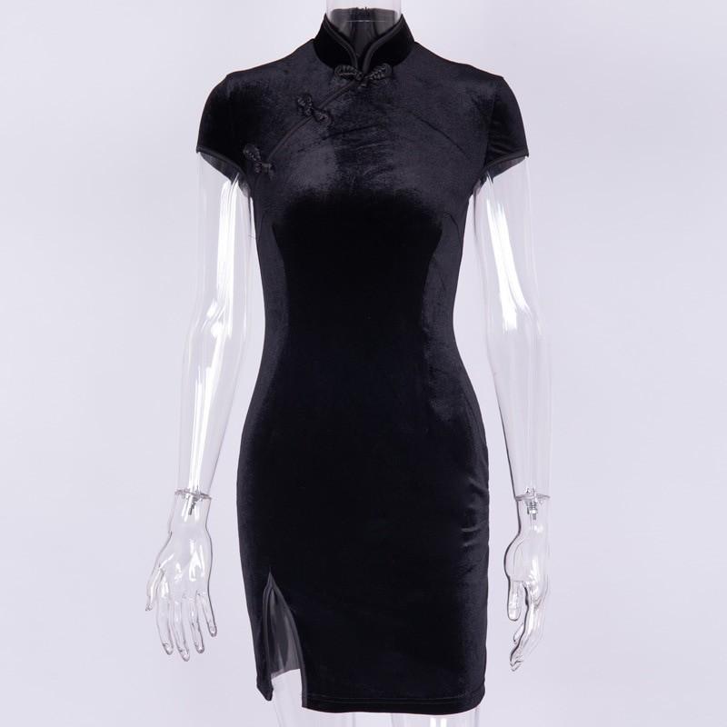 Pastel gothic E-girl cheongsam dress 41
