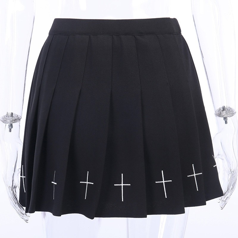 Gothic Mini Skirts with cross E-girl Pastel gothic 45