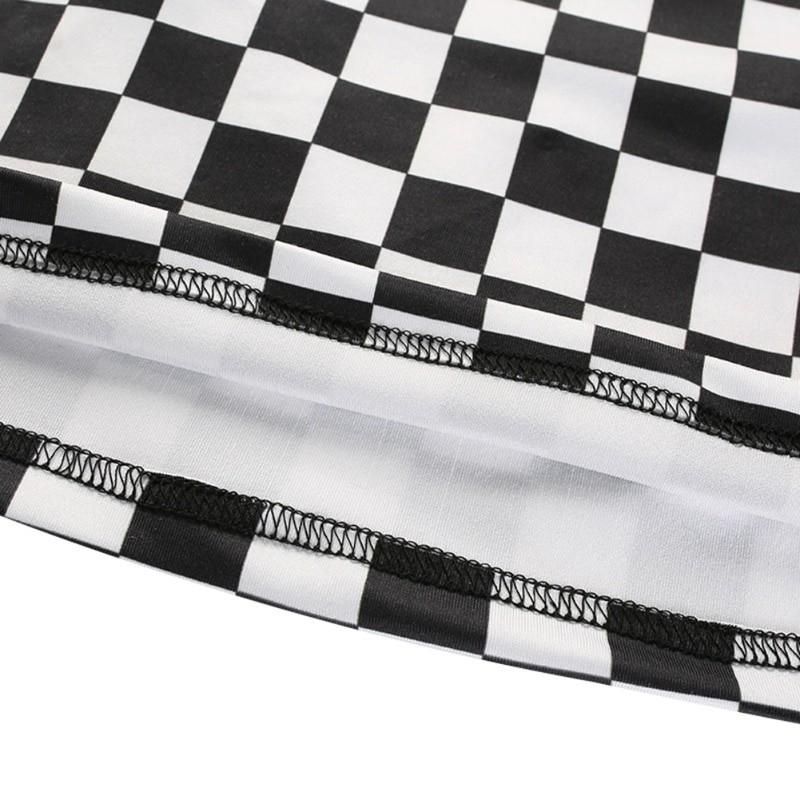 Pastel gothic Egirl Checkerboard Crop Tank Top 44