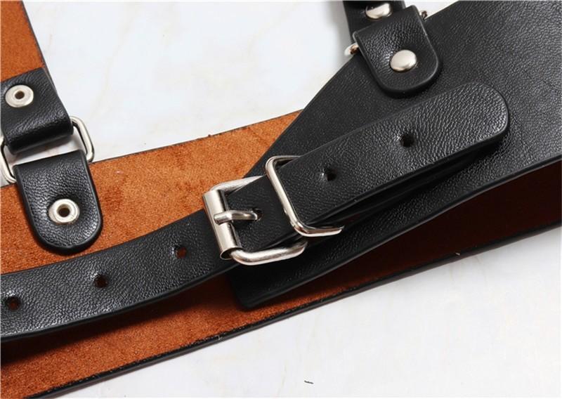 Pastel gothic Leather Body Bondage 50