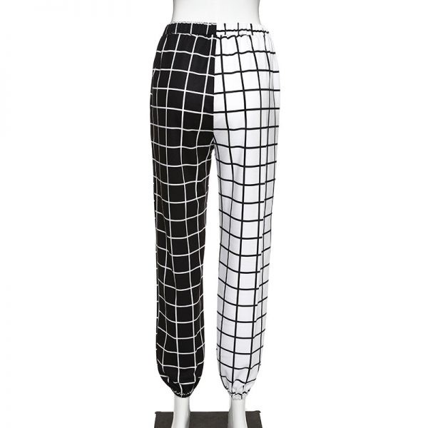 Black and White Checkerboard Trousers 6