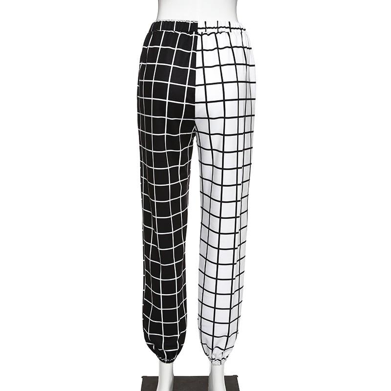 Black and White Checkerboard Trousers Punk E-girl 6