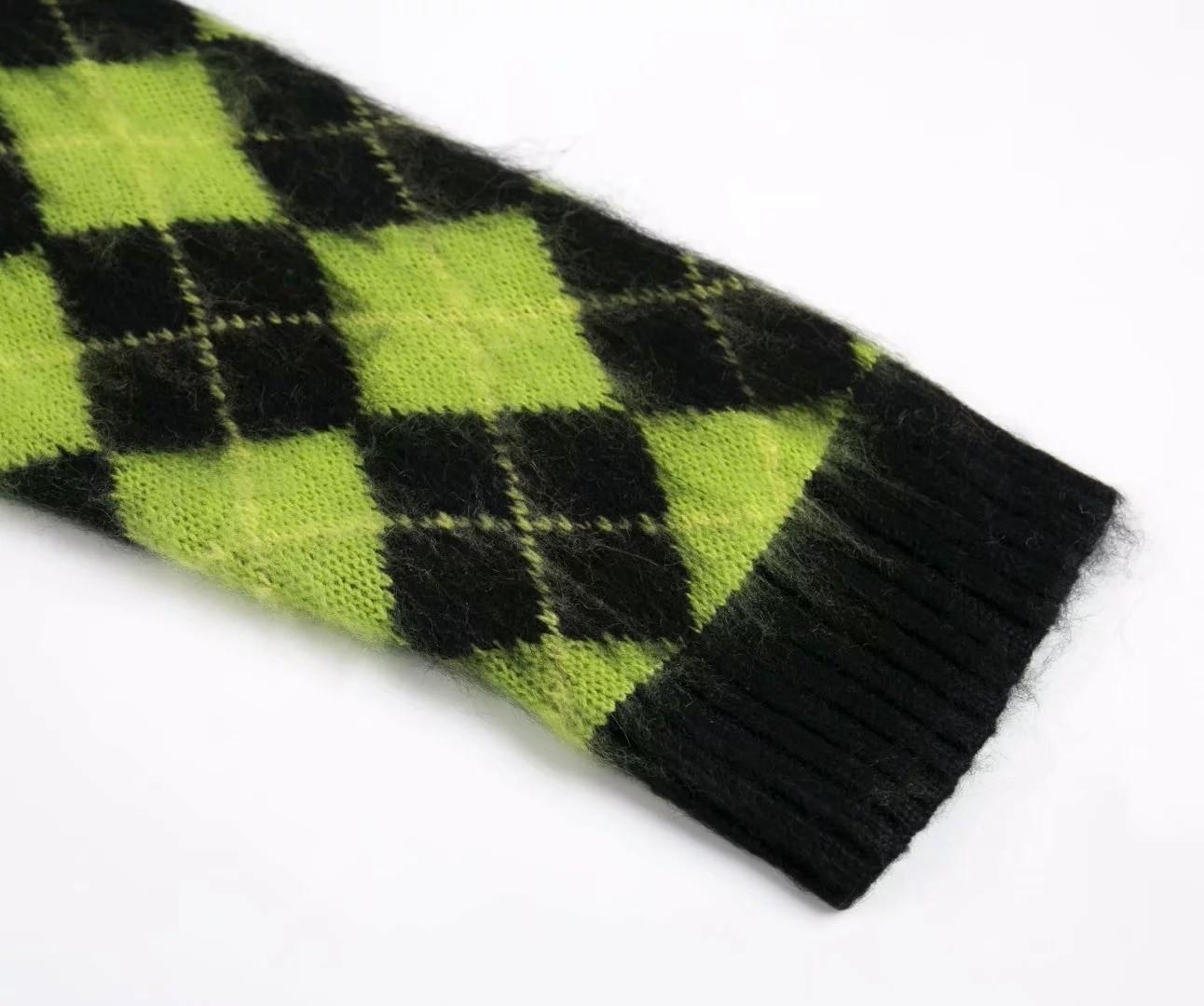 Punk Vintage knitted oversized cardigan 48