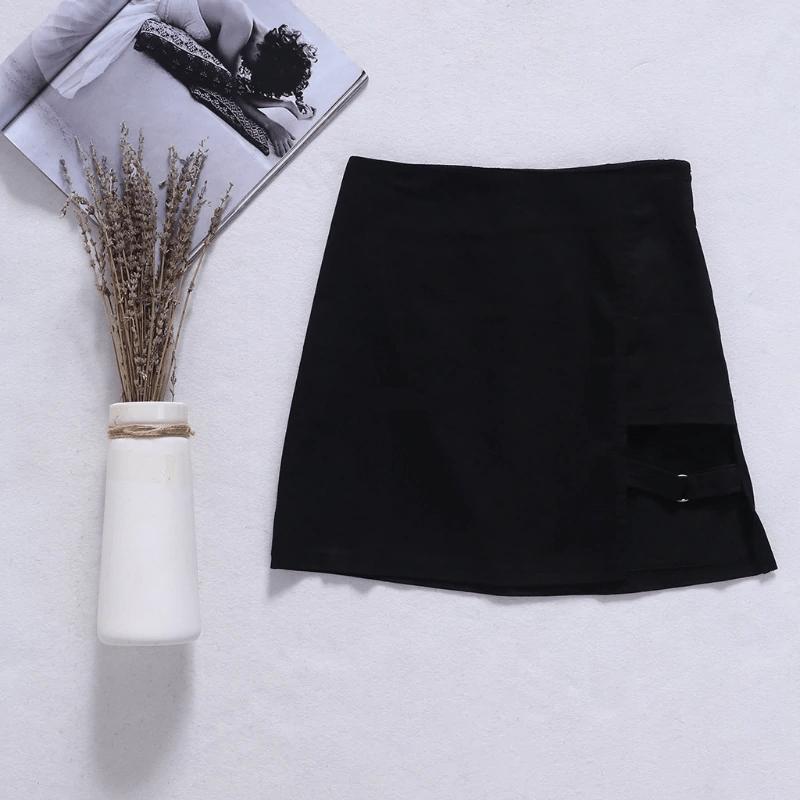 Mini Skirt with strap E-girl 42