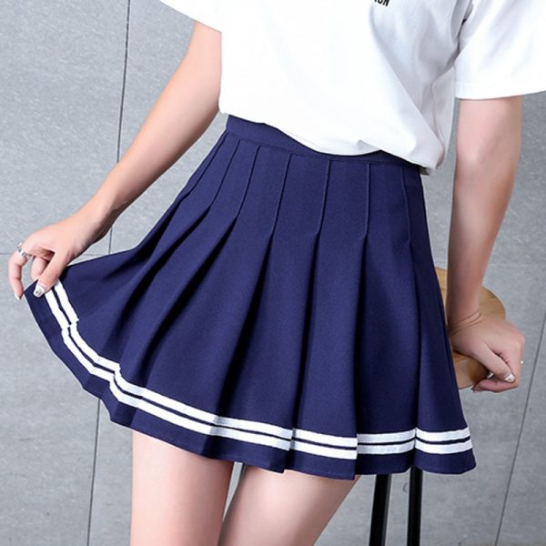 High Waist Striped Skirt  2